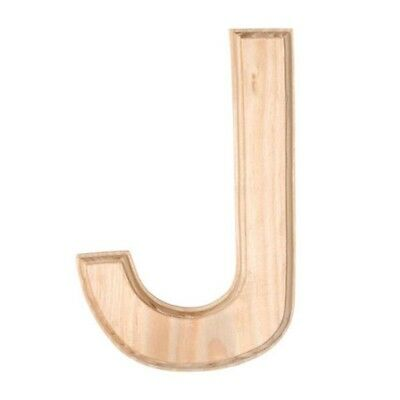 Unfinished Wooden Letter J 6 Inches