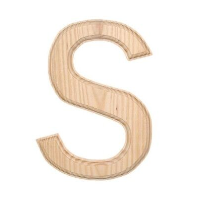 Unfinished Wooden Letter S 6 Inches