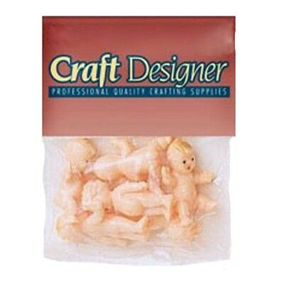 Set of 6 Baby Toy Craft Dolls 1.5 Inches