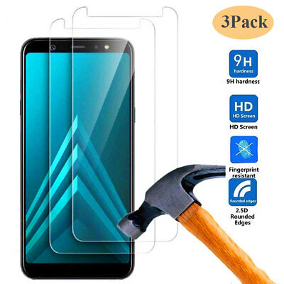 3Pack Tempered Glass Film for Samsung Galaxy A6/A7/A8 Plus 2018 Screen Protector