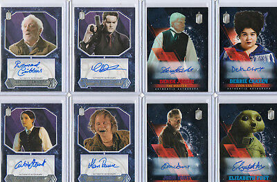 Dr Doctor Who - Autograph Costume Relic Card & Printing Plate Selection NM Topps