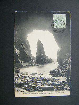 Early PC of Needle Rock, Plemont, Jersey. Posted 1910.