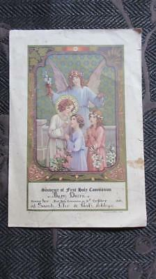 1937 Souvenir of First Holy Communion at Saints Peter & Paul's Ashby Geelong Wes