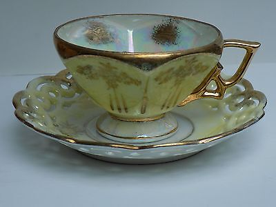 Antique Japanese Victorian Style Tea Cup & Saucer Set