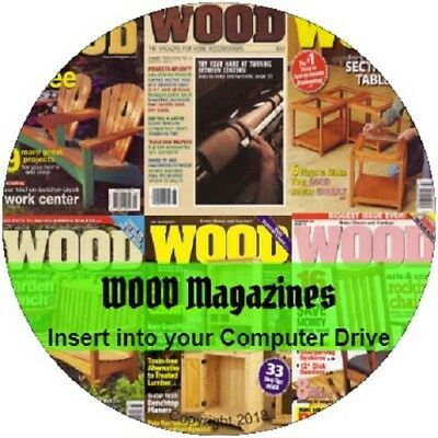 WOOD MAGAZINE - Home Woodworker Vintage Woodworking 202 PDF Issues on 2 DVD's