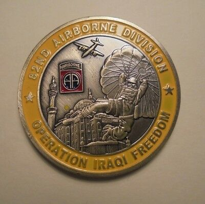 82Nd Airbourne Operation Iraqi Freedom Collector Coin