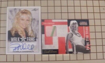 Playboy Celebrity Pamela Anderson Autographed And Material Card (008/125)