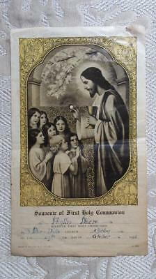 1946 27-10 Souvenir of First Holly Communion at Saints Peter & Paul's Ashby Geel