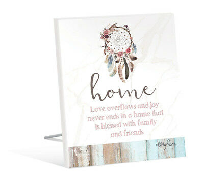 French Country Inspired Standing Art Boho Dreams Catcher HOME Wooden Sign New