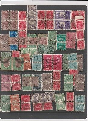 India Stamps Blocks Pairs Strips