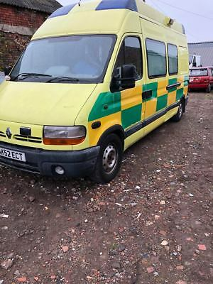 Renault master Ambulance 2.8  20000  Miles no tax or test spares repair