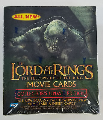 2002 Topps Lord of the Rings Fellowship of the Ring Coll Update Edition Box