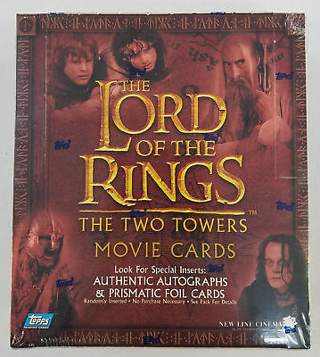 2002 Topps LOTR Lord Of The Rings Two Towers Retail Box (C)