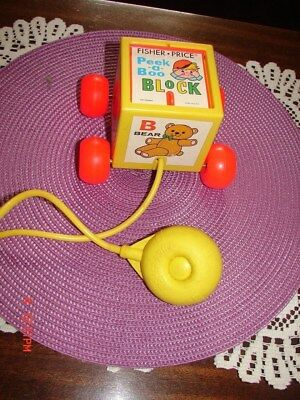Fisher Price Abc Peekaboo Block With Squeeze Bulb