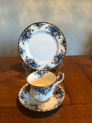Sammelgedeck (3tlg), Royal Albert England, Moonlight Rose, Goldrand