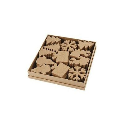 Christmas Shapes, H: 10-14 cm, 36pcs [HOB-99345]