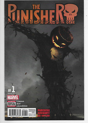 The Punisher Annual 1 Halloween Jack-O-Lanter Scarecrow Cover