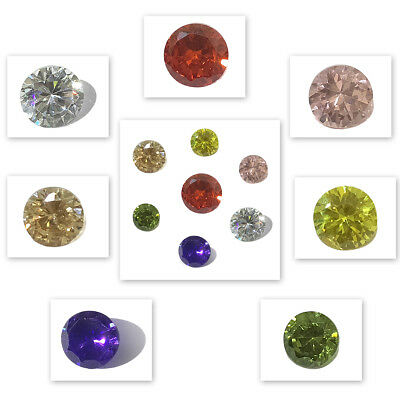 Cubic Zirconia Loose Gemstones Brilliant Round Cut Crystal AAAAA Quality 4 - 8mm