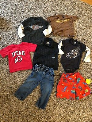 baby clothes 12-18 months boys lot Includes Lucky Brand, Quiksilver