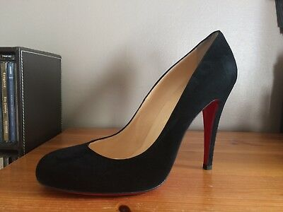best cheap 48585 ecb50 CHRISTIAN LOUBOUTIN RON Ron 100 Black Suede Court shoes 39.5 uk 6.5 new in  box