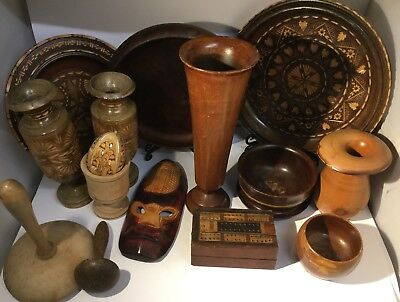 Collection Of Antique / Vintage Turned Wood & Carved Wood - For Resale - Quality