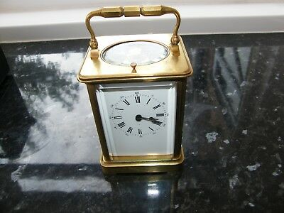 French 5 glass striking repeating carriage clock GWO, original travelling case