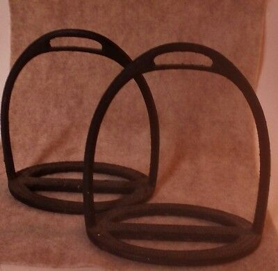 Pair Of Two Antique/Vintage Cast Iron Stirrups Small, Child Ladies Horse Access