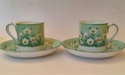 Pair Of Crown Staffordshire Bone China Demitasse Tea Cup and Saucer, #13733