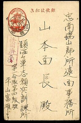Japan WWII Army Postal Stationery Post Card Used from Hong Kong?? Look...