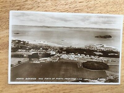 Real Photograph Postcard - North Berwick And Firth Of Forth From The Law.