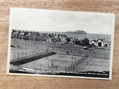 Postcard - The Tennis Courts With Craigleith In Background, North Berwick.