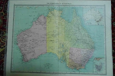 Map Australia Commonwealth Edwardian MAP London Geographic Institute c1910