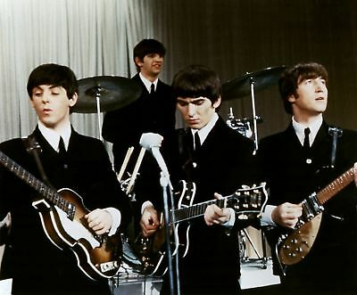 The Beatles Watching The Guitar 8x10 Photo Print