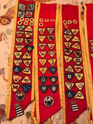 Vintage boy scouts Canada sashes and patches