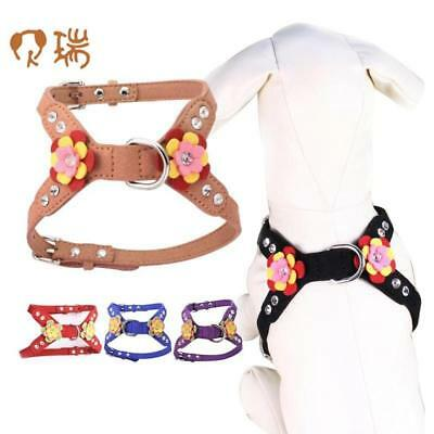 Small Dogs Harness Vest Puppy Collars Bling Accessories Flower For Pet Harness