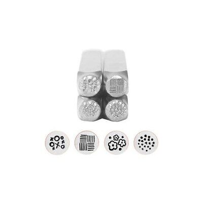 Embossing Stamps, size 6 mm, L: 65 mm, Graphic pattern 1, 4pcs [HOB-67578]