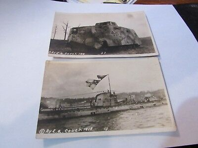 Two World War 1 Postcards of military equiptment