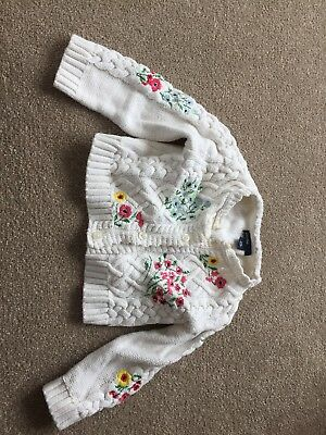 Baby Gap Embroidered Knitted Cardigan Age 6-12 Months