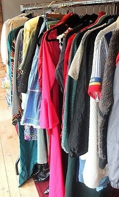 Job Lot 30 x True 60s, 70s, 80s, 90s Vintage Women's and Men's Clothing/Shoes