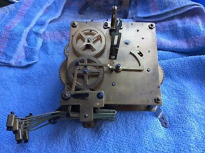 Vintage Westminster Chime Clock Parts, Mechanism For Spare And Repair