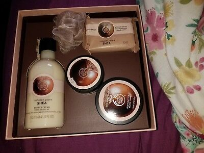 NEW : The Body Shop Shea Collection Gift Set Box (5 Items) Ideal For Christmas