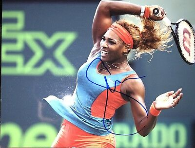 Autograph Serena Williams Tennis, 20* 27 cm (8*10) (Signed in person)