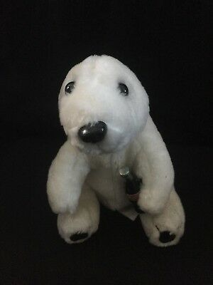 Coca Cola Polar Bear Plush White Stuffed Animal Coke Bottle 1993 Teddy 8""