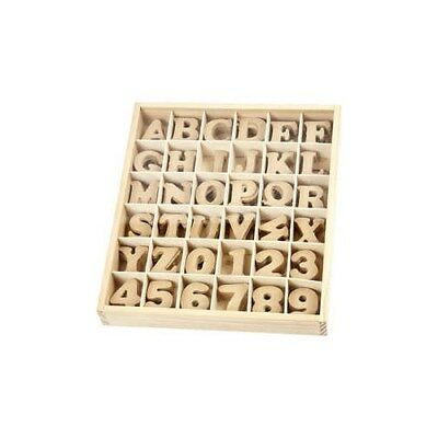 Letters and Numbers, H: 4 cm, thickness 2,5 mm, MDF, 288pcs [HOB-57408]