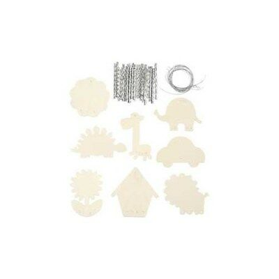 Wind Chimes, size 9-14 cm, thickness 2 mm, plywood, 24pcs [HOB-56823]