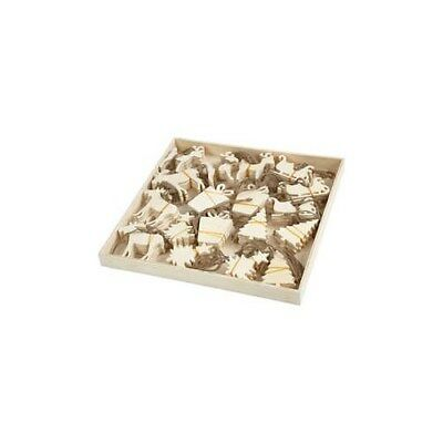 Christmas Ornaments, size 7-9 cm, thickness 4 mm, plywood, 90pcs [HOB-56404]