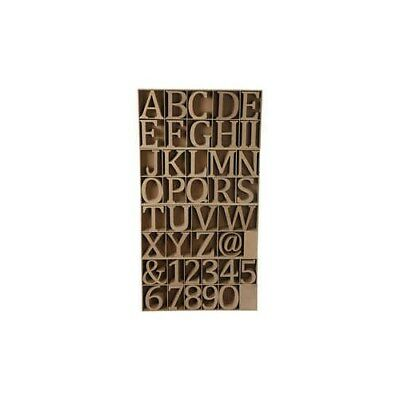 Wooden Letters, Numbers And Symbols, including free wooden display, H: 8 cm, thi