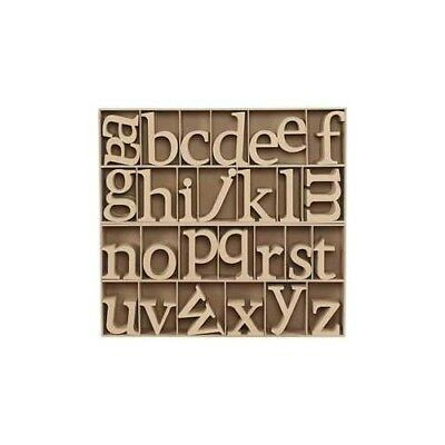 Wooden Letters, including free wooden display, H: 8 cm, thickness 2 cm, MDF, 112
