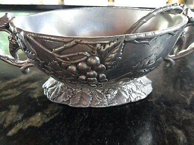 Arthur Court Serving Bowl with Spoon -- NEW