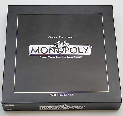 Monopoly onyx edition hasbro parker brothers barnes and noble.